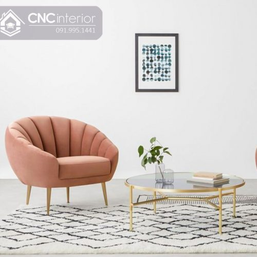 Ghế sofa nhỏ CNC 07