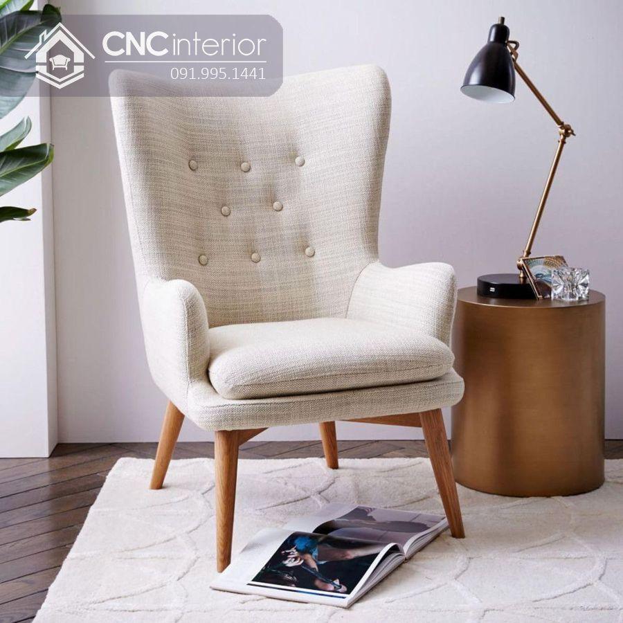 Ghế sofa mini tựa lưng cao đẹp sang trọng CNC 08