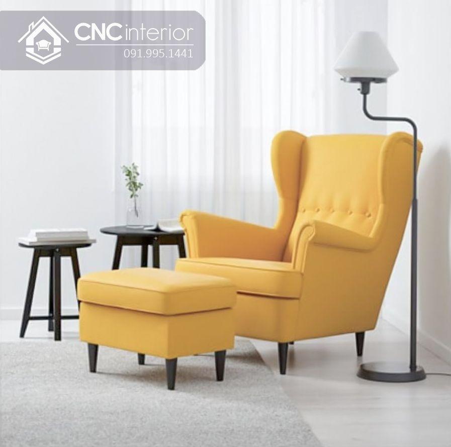 Ghế sofa mini tựa lưng cao đẹp sang trọng CNC 08 4