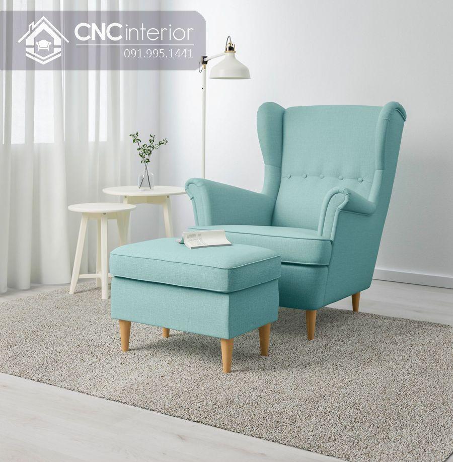 Ghế sofa mini tựa lưng cao đẹp sang trọng CNC 08 5