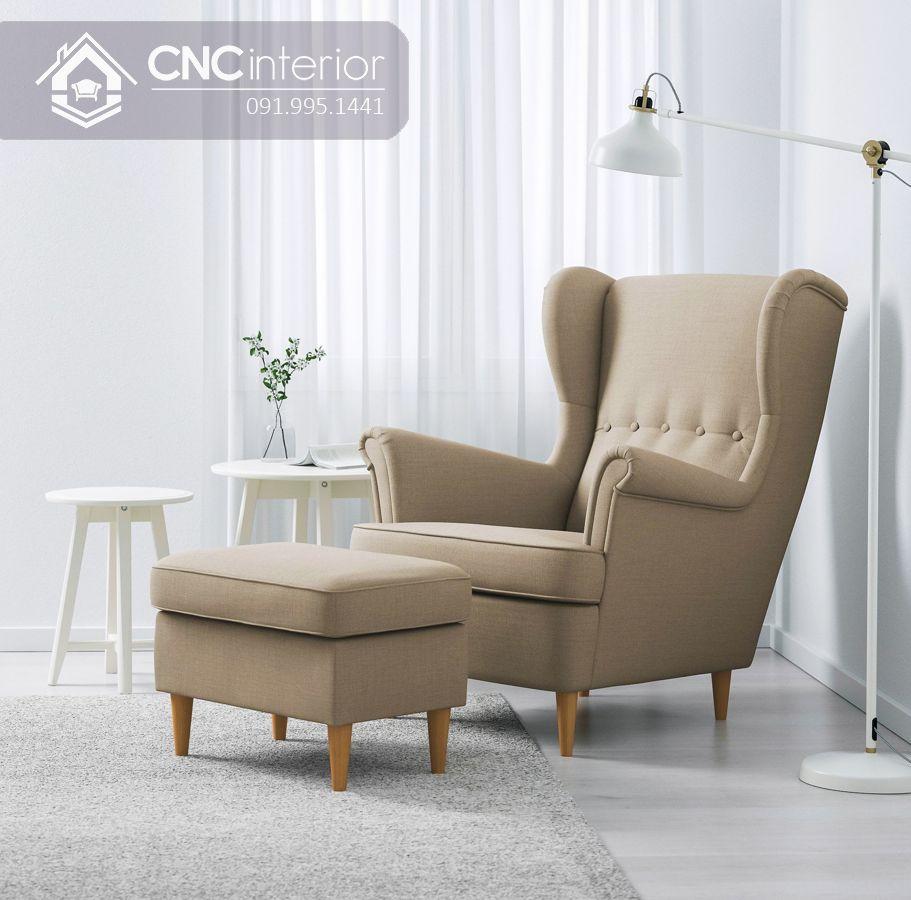 Ghế sofa mini tựa lưng cao đẹp sang trọng CNC 08 6