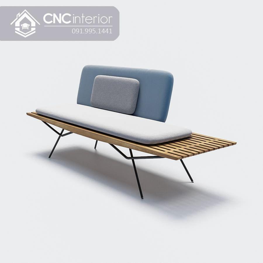 Sofa gỗ nhỏ gọn phong cách tối giản CNC 14