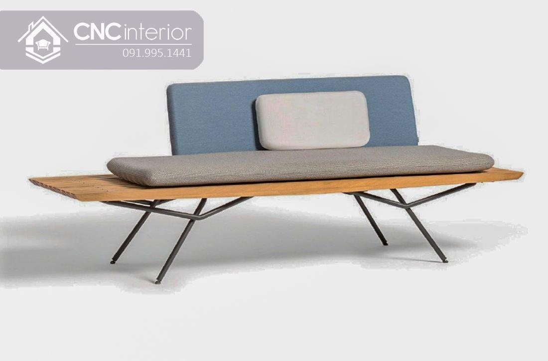 Sofa gỗ nhỏ gọn phong cách tối giản CNC 14 1