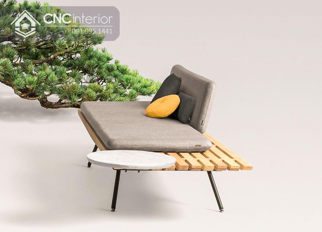 Sofa gỗ nhỏ gọn phong cách tối giản CNC 14 2