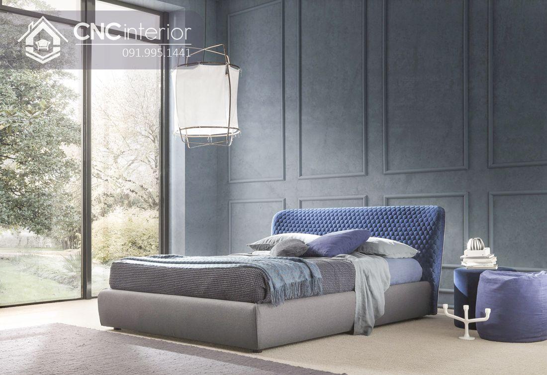 Giường ngủ gỗ công nghiệp bọc vải đẹp CNC 01 2