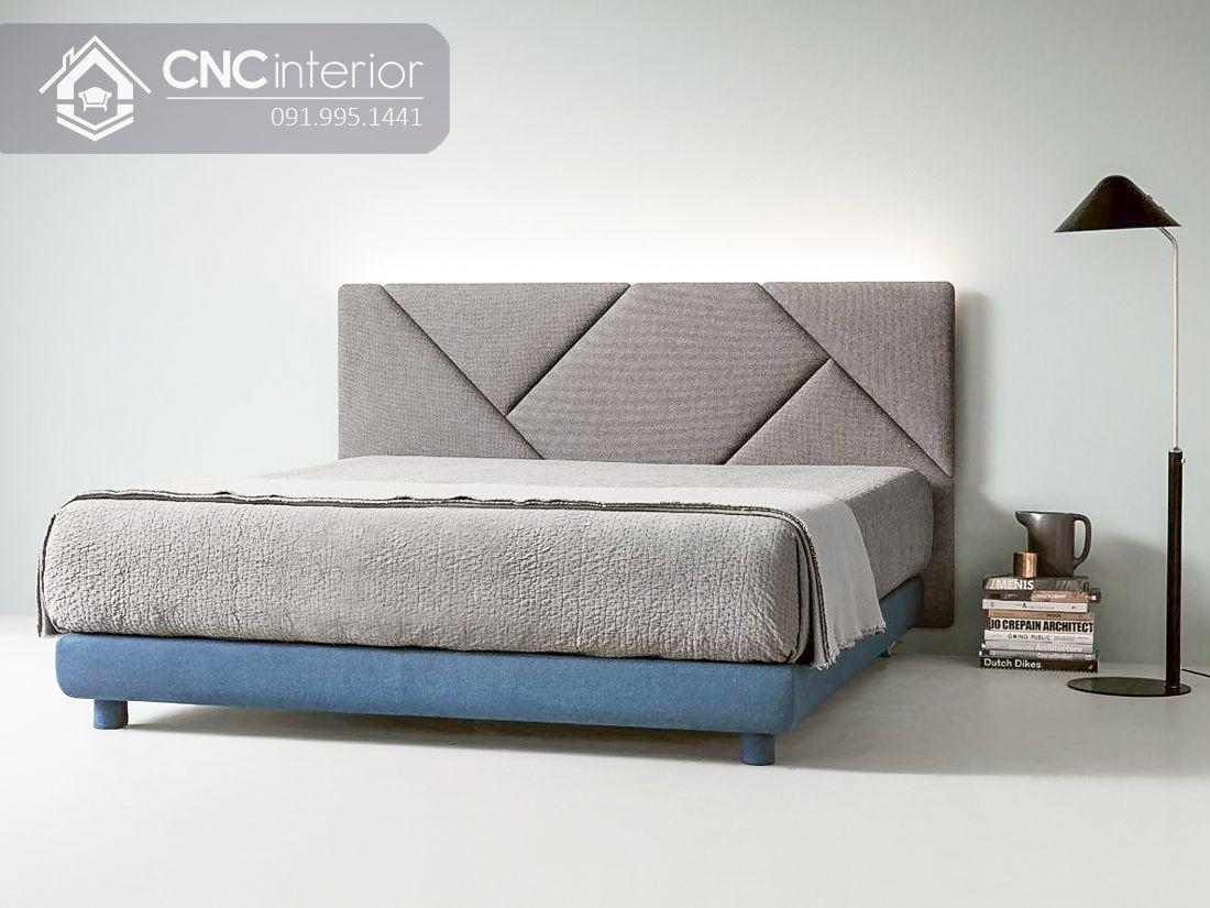 Giường ngủ bọc vải gỗ công nghiệp hiện đại CNC 04