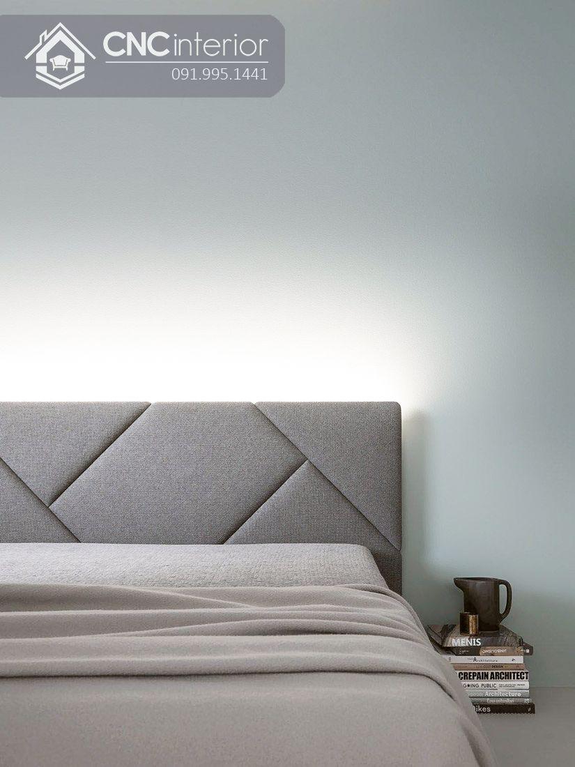 Giường ngủ bọc vải gỗ công nghiệp hiện đại CNC 04 1