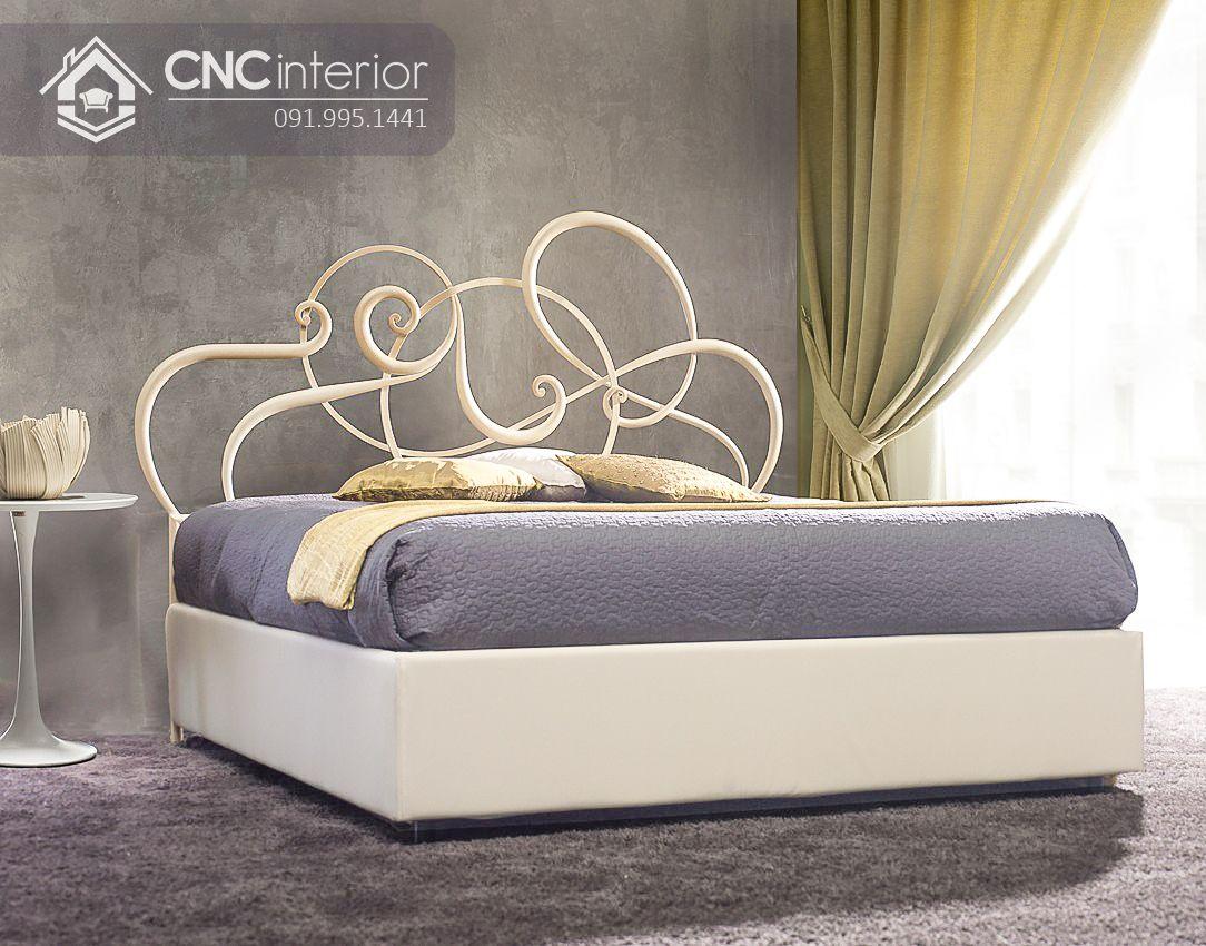 Giường gỗ sồi tự nhiên bền đẹp tinh tế CNC 10 1