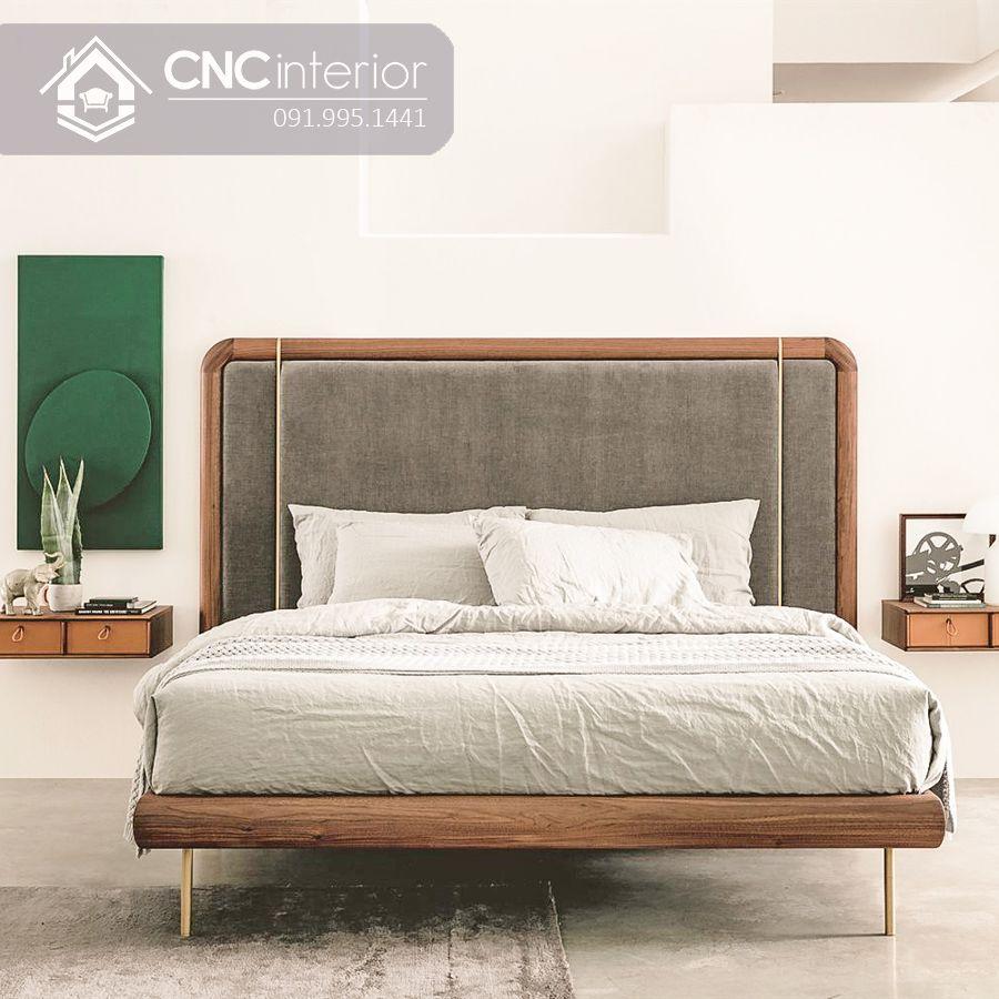 Giường ngủ kiểu nhật gỗ sồi cao cấp CNC 13