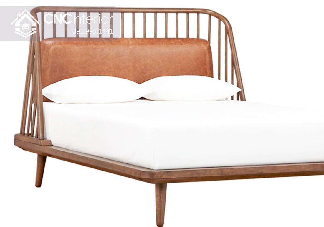 Giường ngủ gỗ tự nhiên đơn giản CNC 15 1