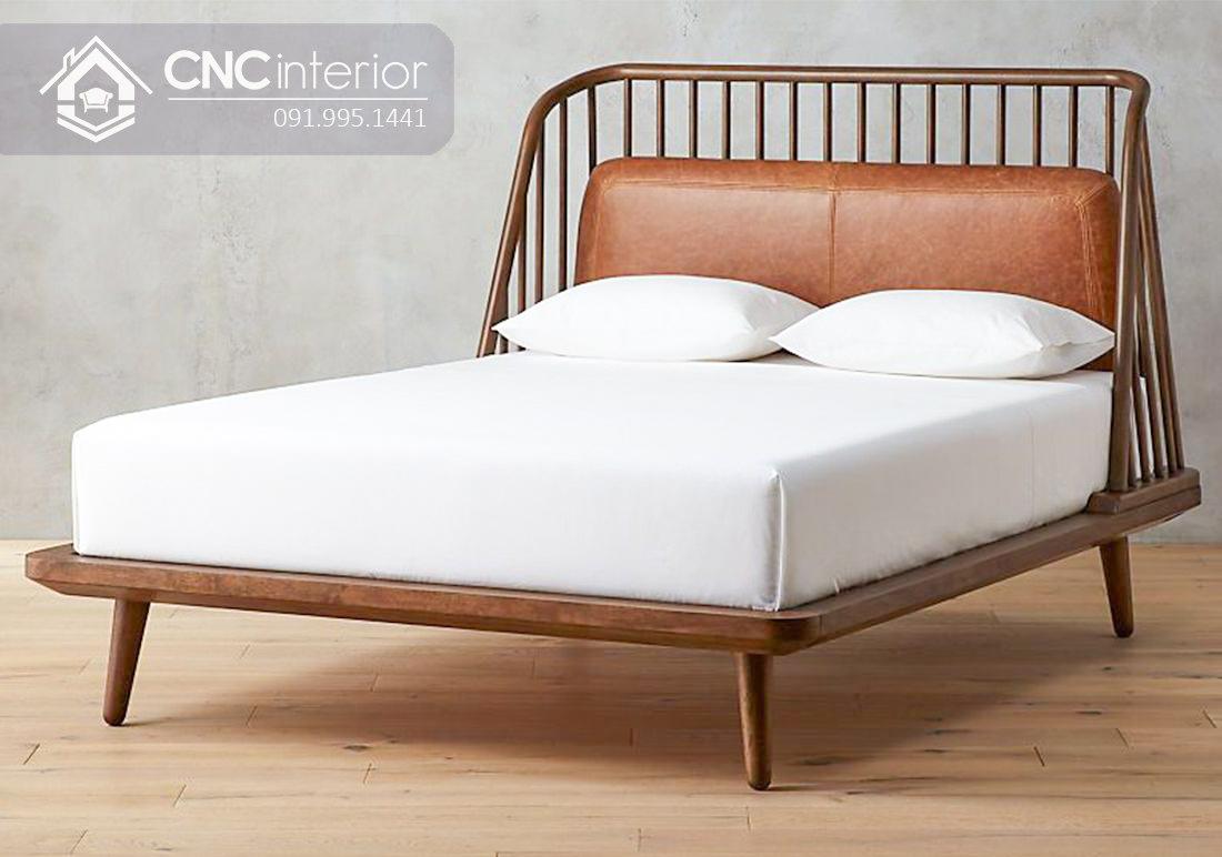 Giường ngủ gỗ tự nhiên đơn giản CNC 15