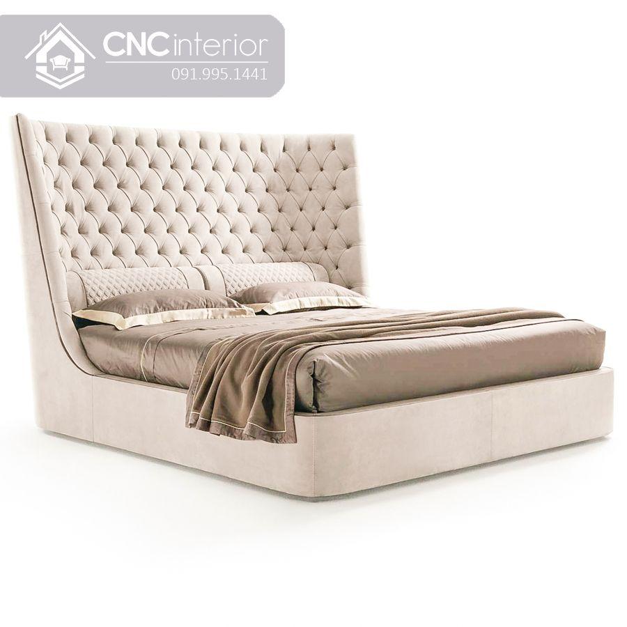 Giường ngủ màu trắng phong cách tân cổ điển CNC 17 2