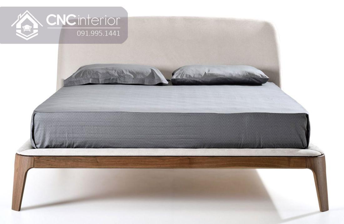 Giường gỗ tự nhiên bọc nỉ đẹp CNC 19 3