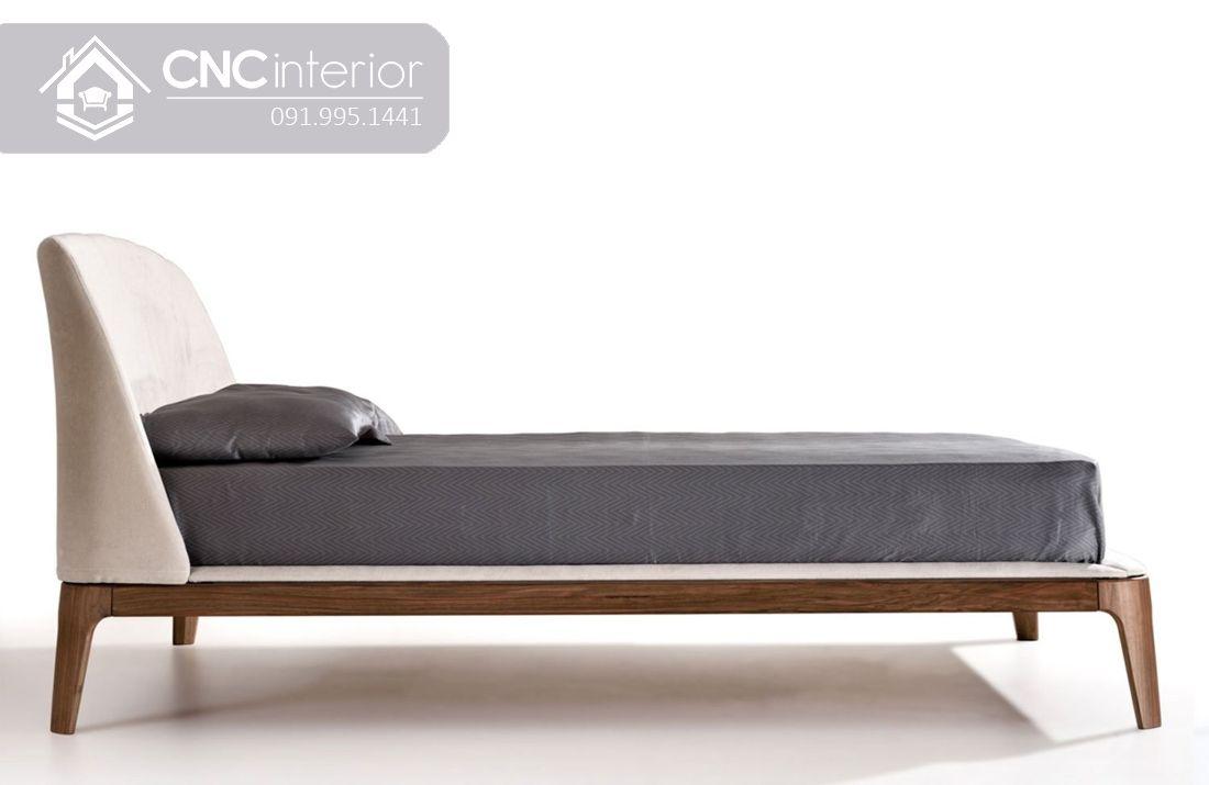 Giường gỗ tự nhiên bọc nỉ đẹp CNC 19 2