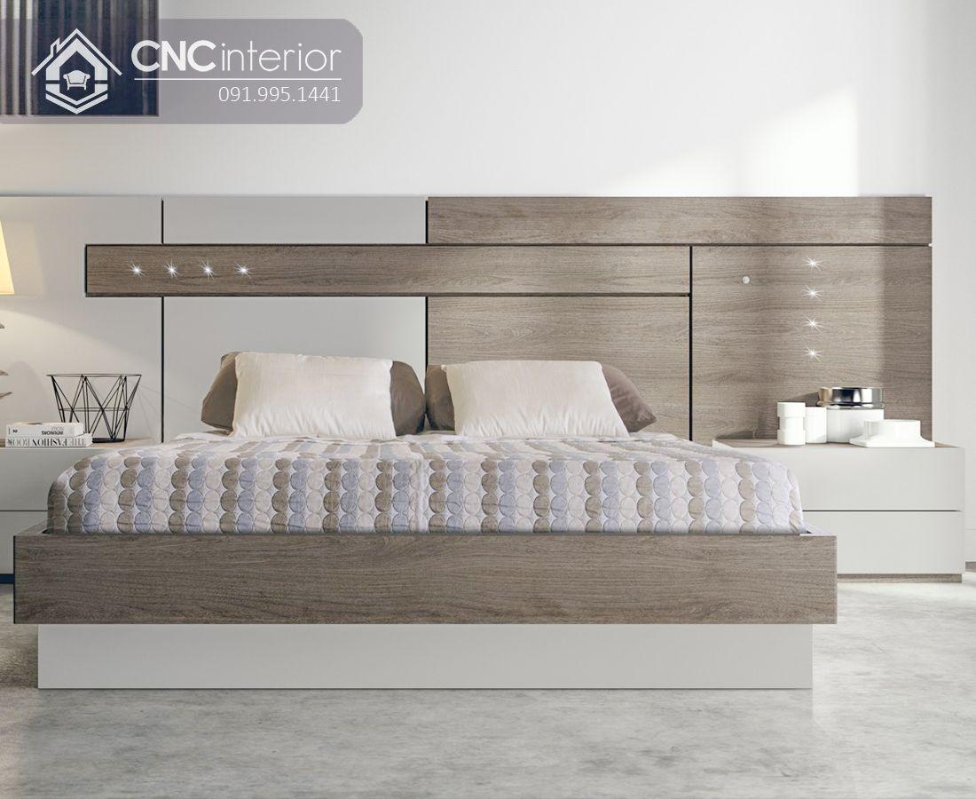 Giường ngủ gỗ công nghiệp MFC hiện đại CNC 20 3