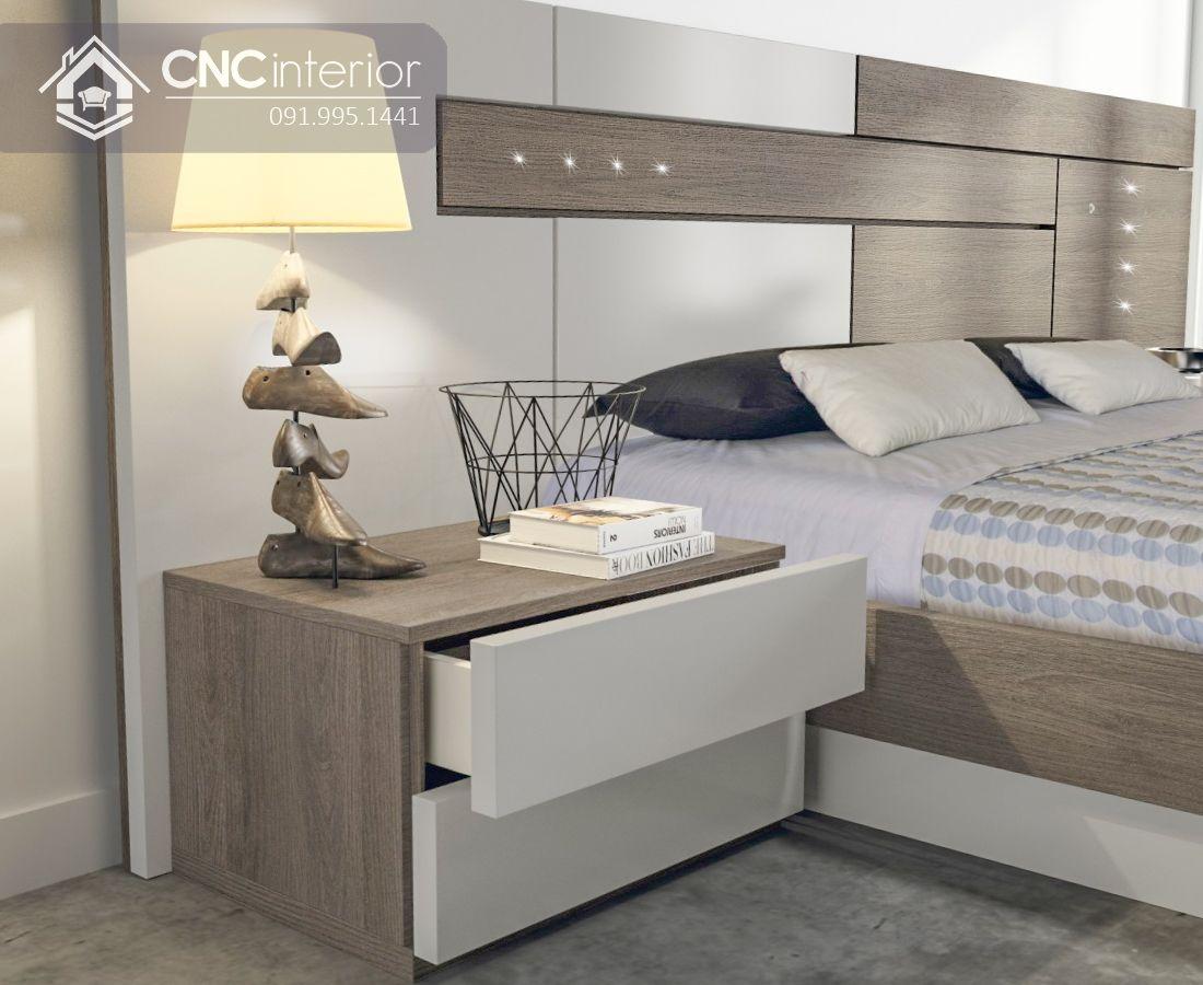 Giường ngủ gỗ công nghiệp MFC hiện đại CNC 20 2