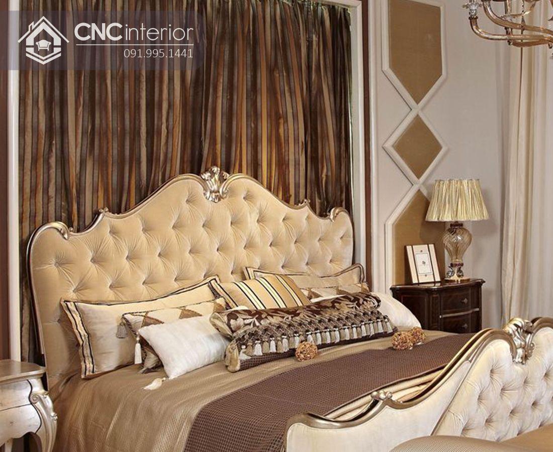 Giường gỗ tự nhiên đẹp trang nhã CNC 33