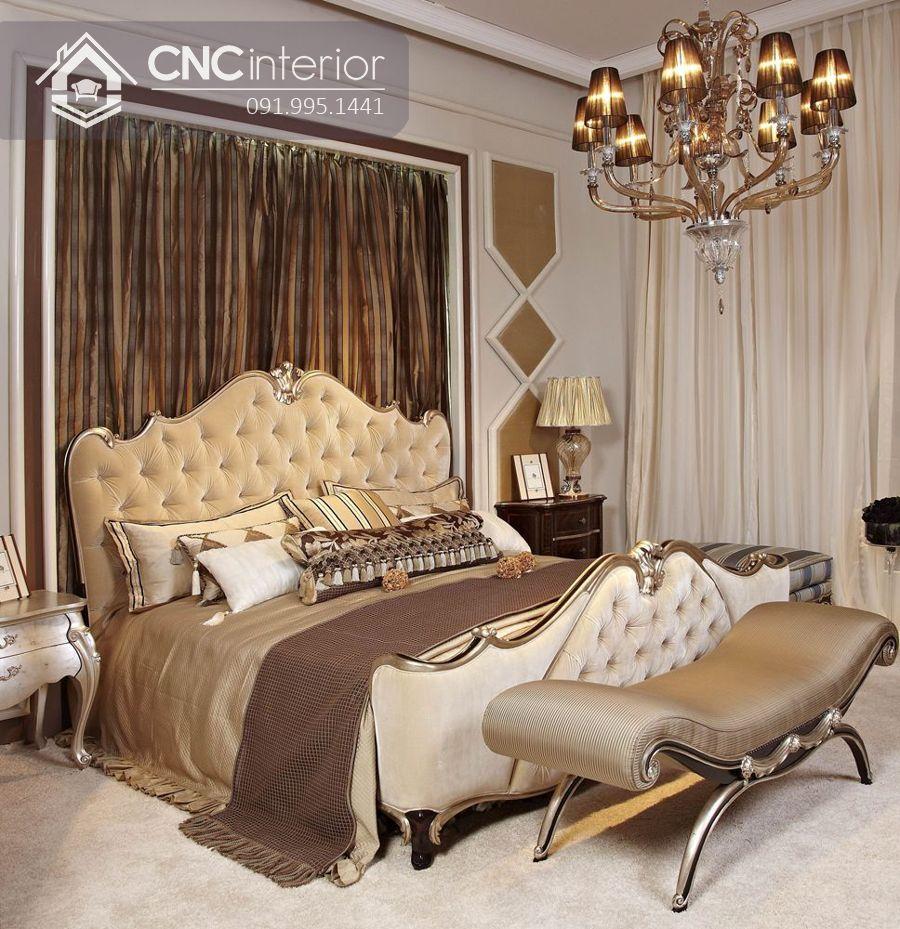 Giường gỗ tự nhiên đẹp trang nhã CNC 33 1