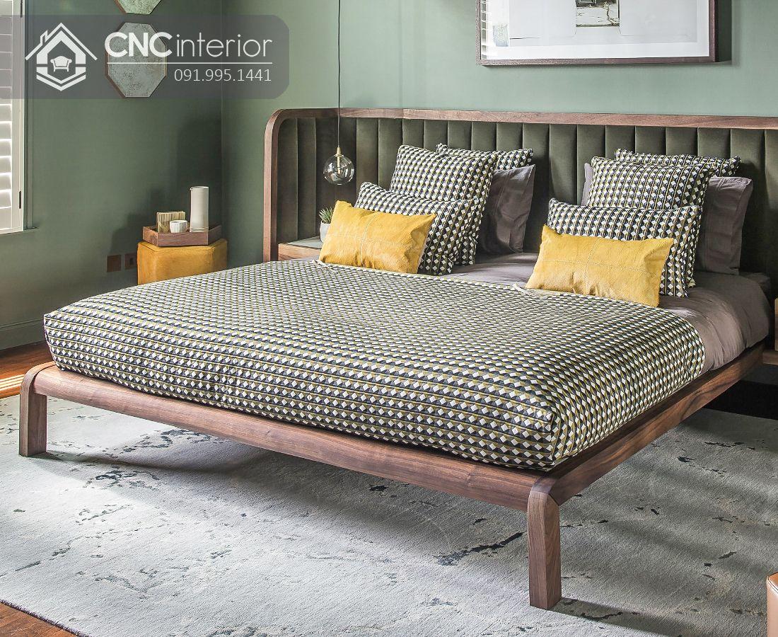 Giường ngủ gỗ sồi mỹ bền chắc CNC 34 1