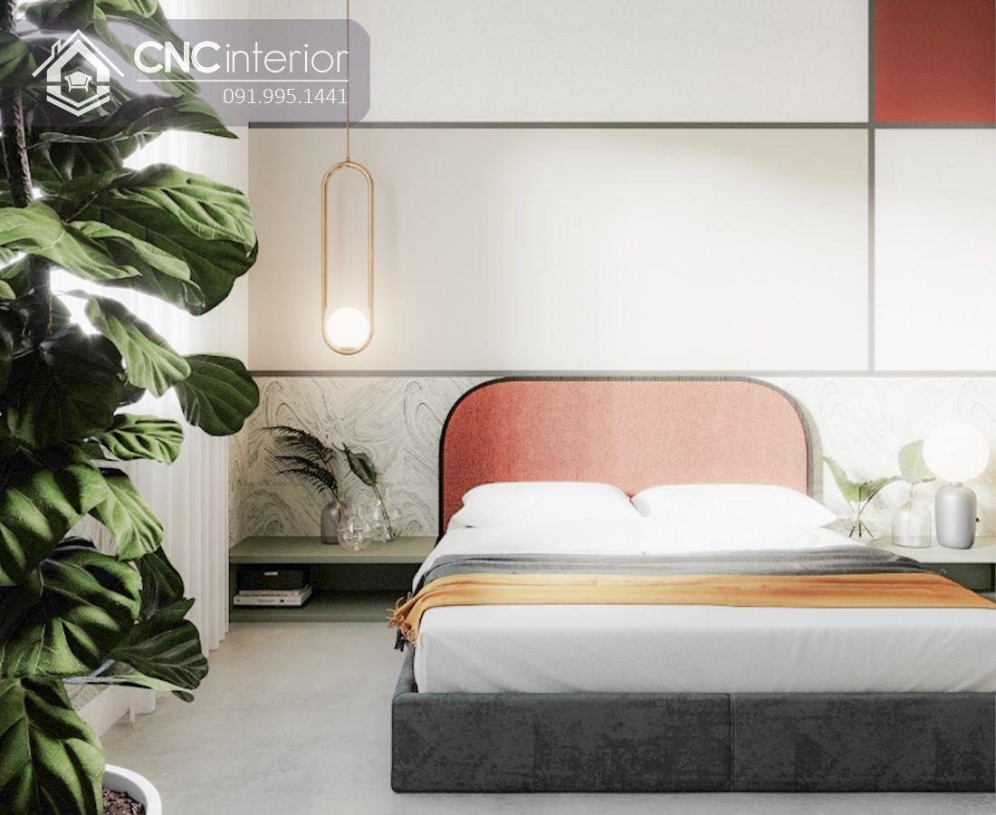 Giường ngủ bọc nệm nhung cuốn hút CNC 35 1