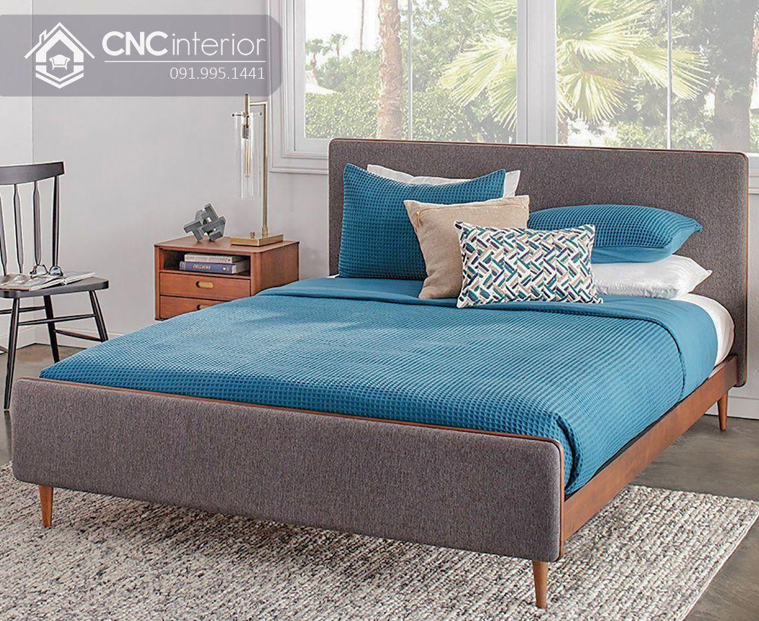 Giường ngủ gỗ công nghiệp bền chắc CNC 37 2