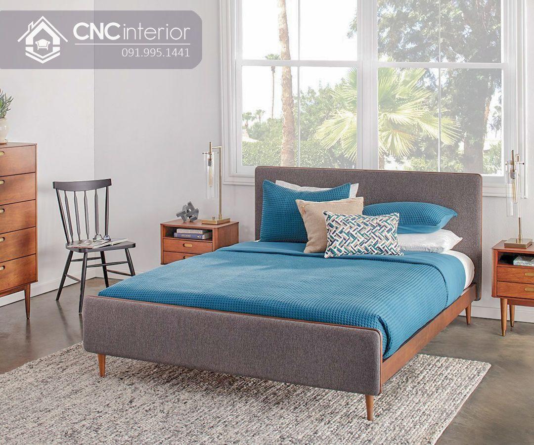 Giường ngủ gỗ công nghiệp bền chắc CNC 37 1