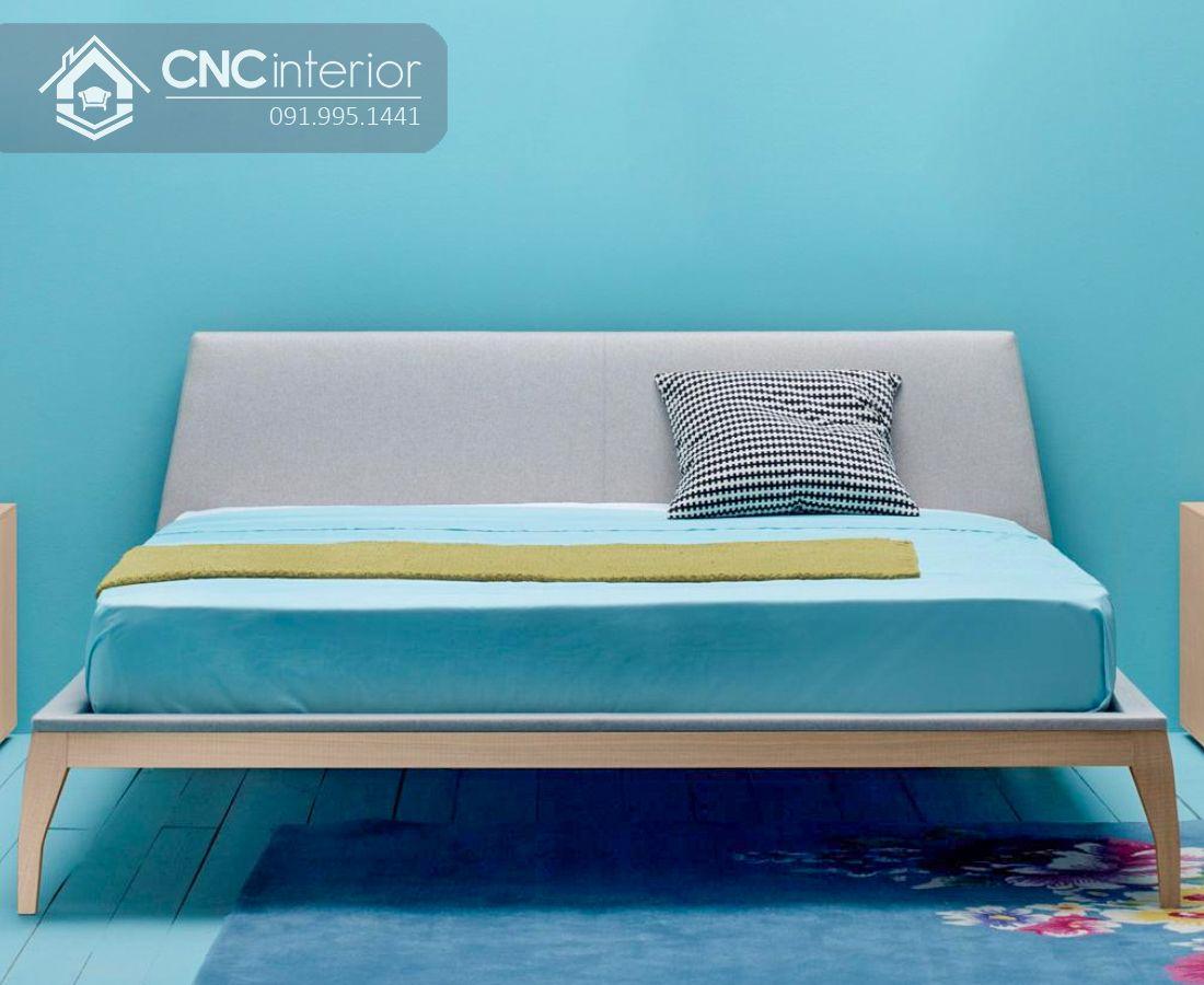 Giường ngủ gỗ công nghiệp bọc nỉ hiện đại CNC 38 1