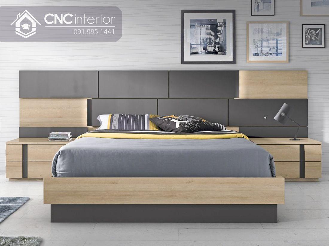 Giường ngủ hiện đại làm bằng gỗ công nghiệp CNC 41