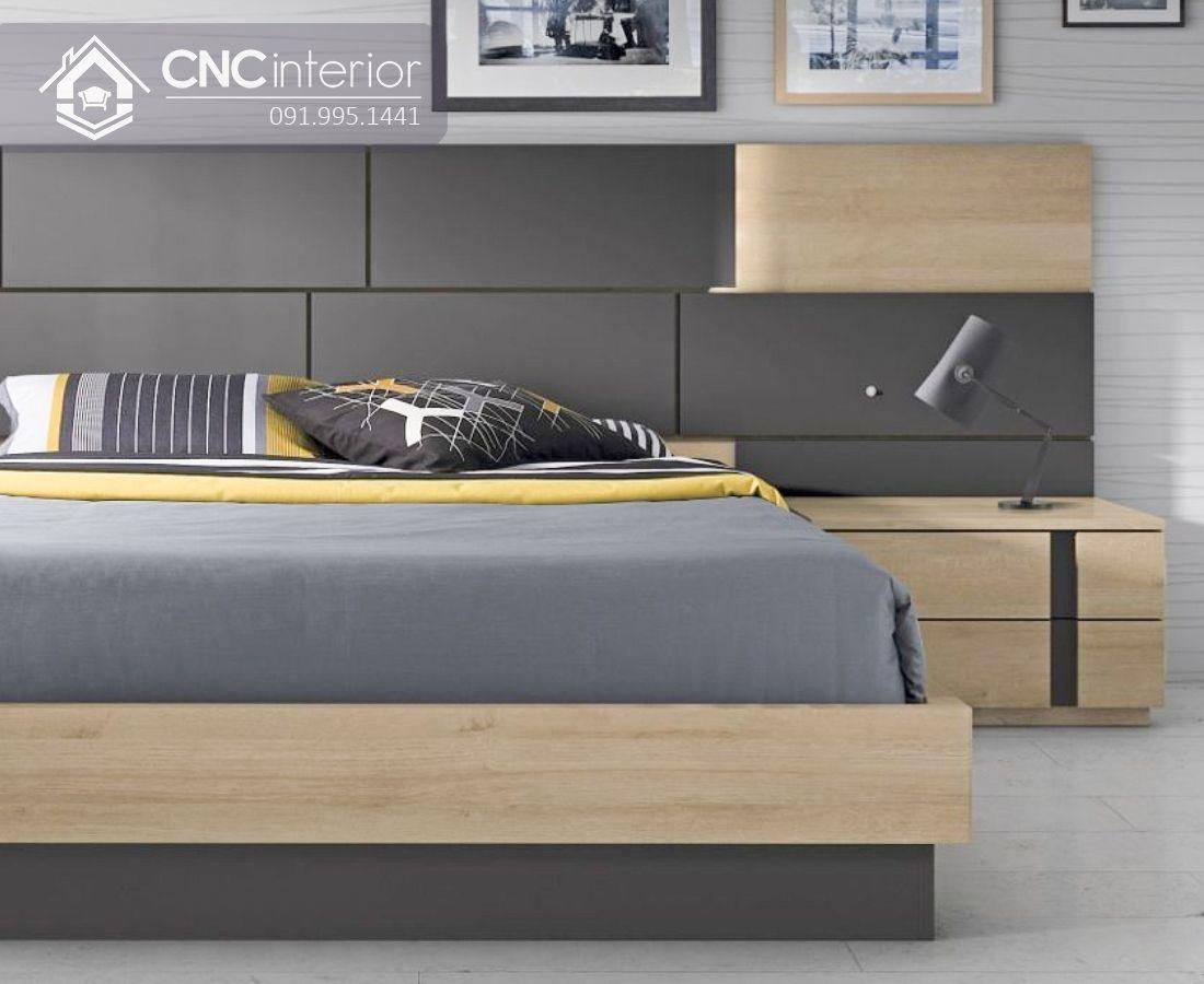 Giường ngủ hiện đại làm bằng gỗ công nghiệp CNC 41 1