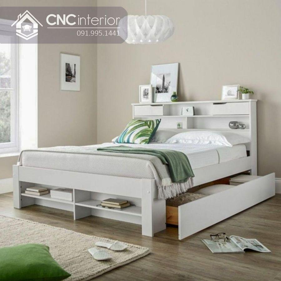Giường ngủ có ngăn kéo đẹp và tiện nghi CNC 47