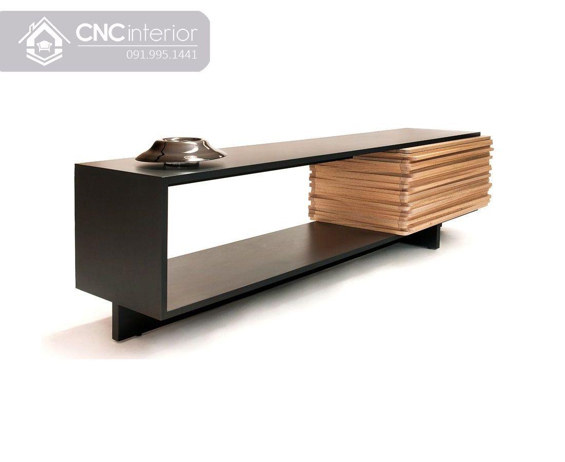 Kệ tivi đơn giản màu đen CNC 01 1