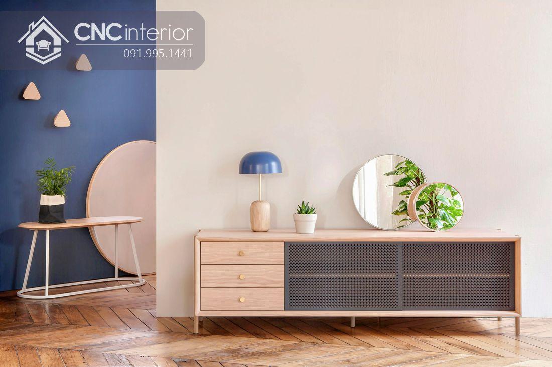 Kệ tivi đẹp cho phòng ngủ CNC 08