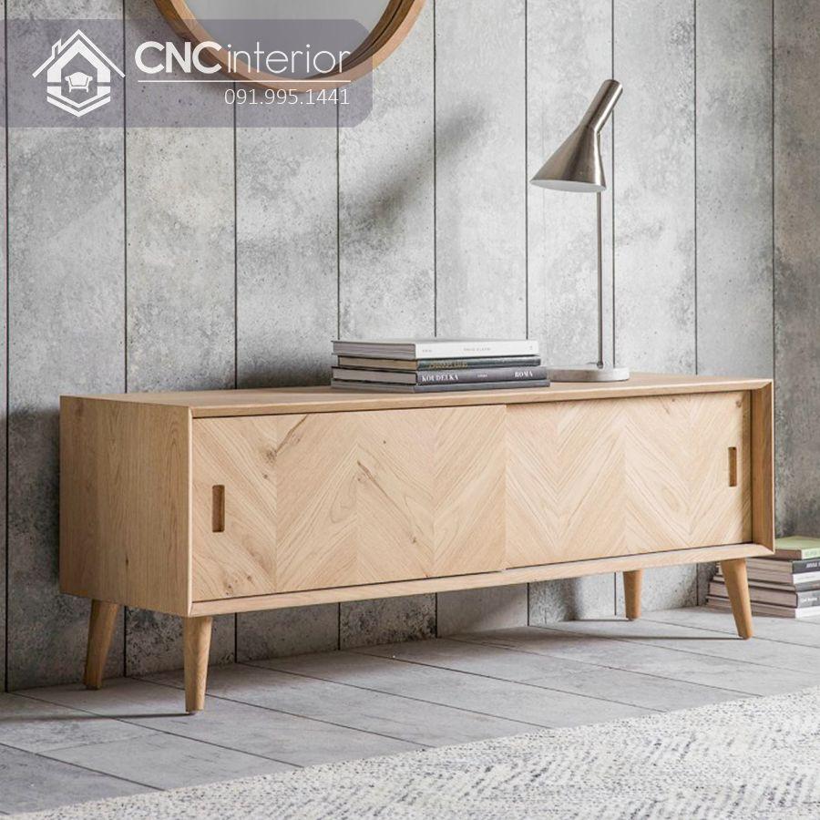 Kệ tivi gỗ công nghiệp bền chắc và đẹp CNC 10