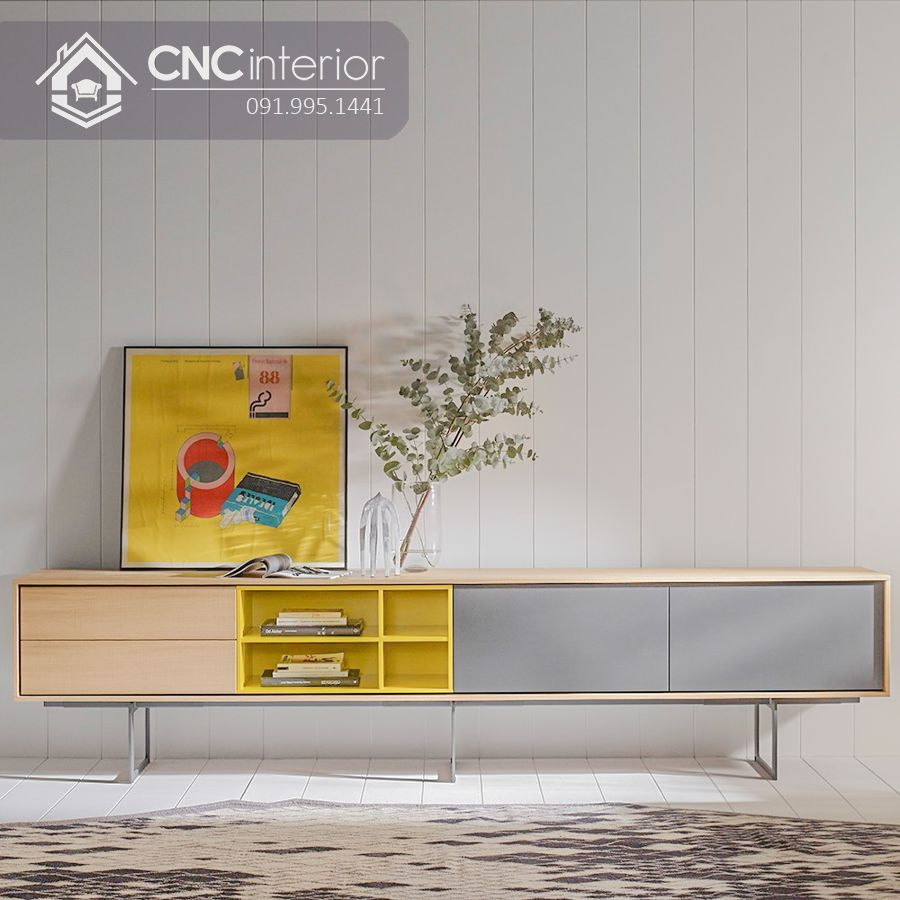 Kệ tivi chân sắt hiện đại CNC 24 1