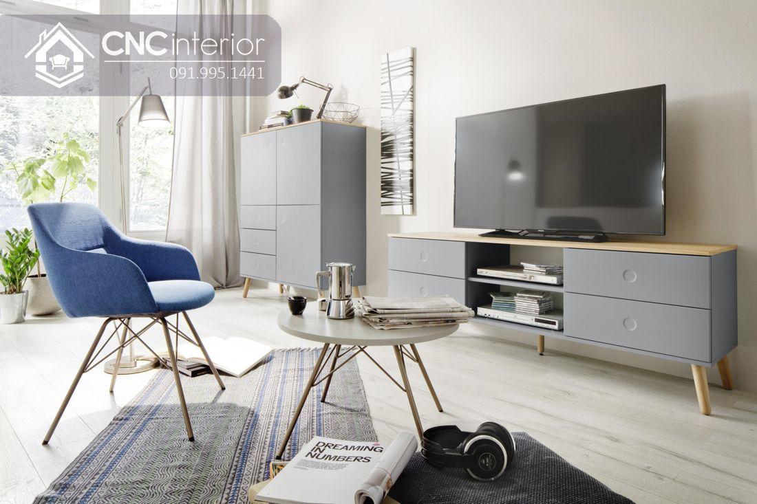 Kệ tivi đơn giản 3 ngăn cho phòng khách CNC 35