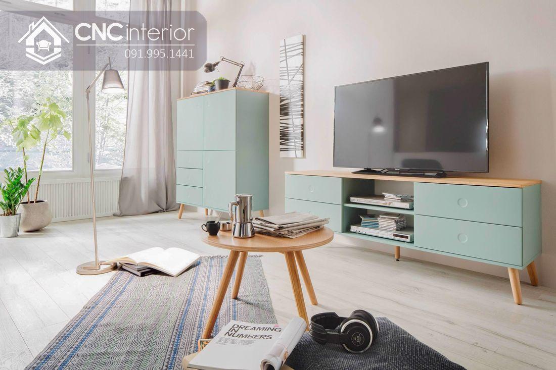 Kệ tivi đơn giản 3 ngăn cho phòng khách CNC 35 1