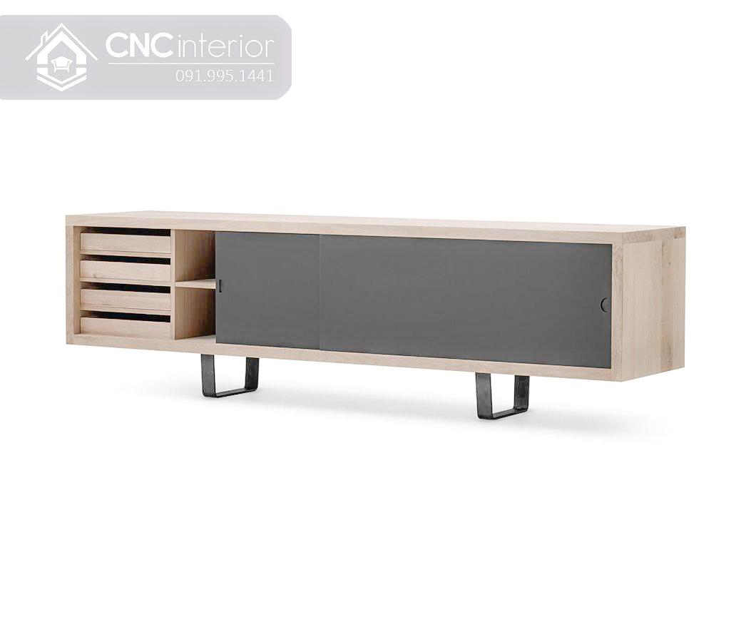 Kệ tivi 2m hiện đại cho chung cư CNC 36