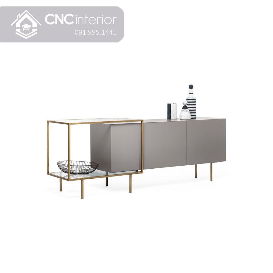 Kệ tivi đơn giản sang trọng chân Inox CNC 37