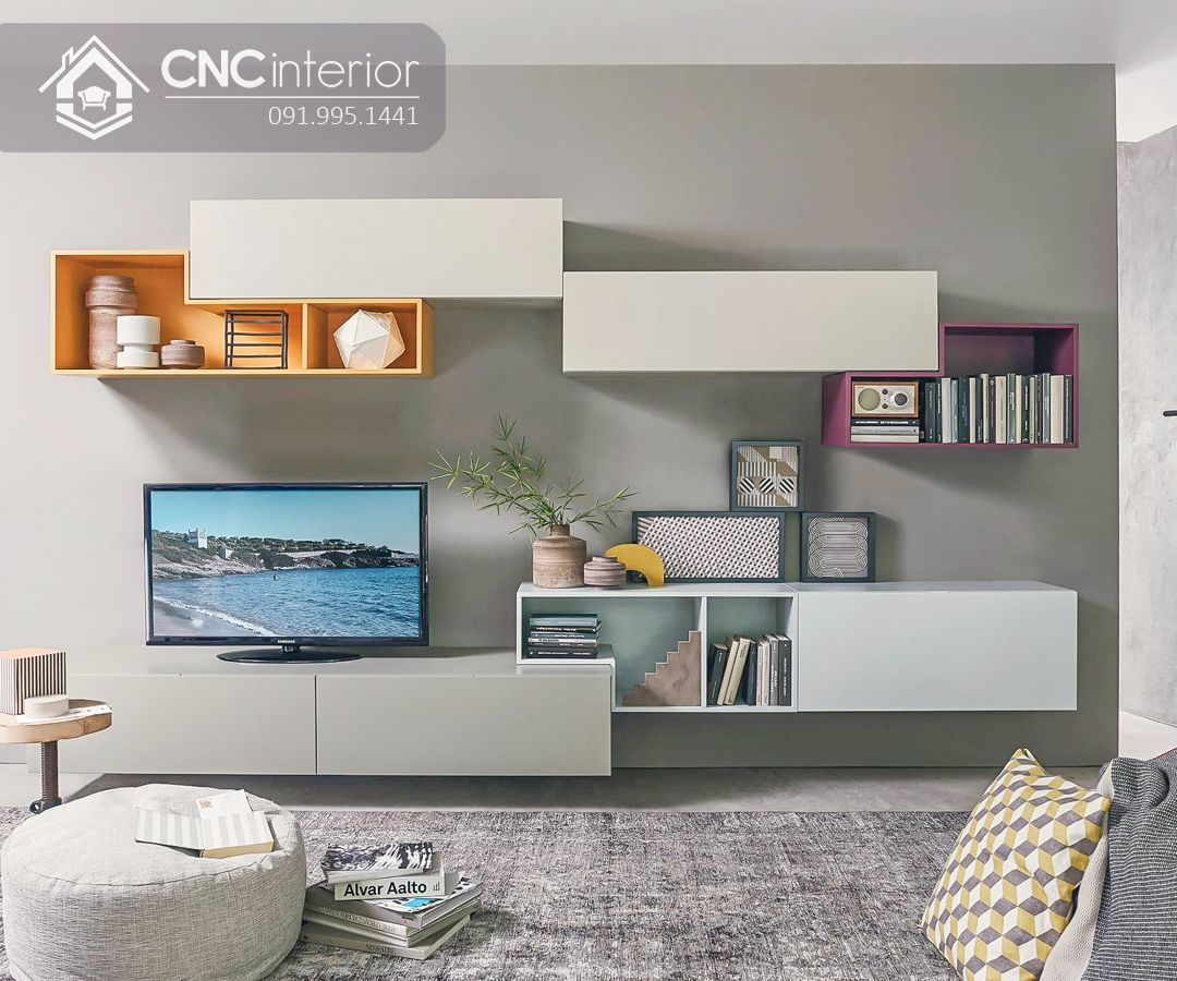 Kệ tivi treo tường phong cách hiện đại CNC 39
