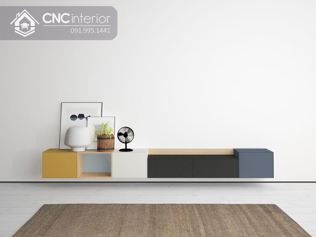 Kệ tivi treo tường đẹp trẻ trung CNC 41 1