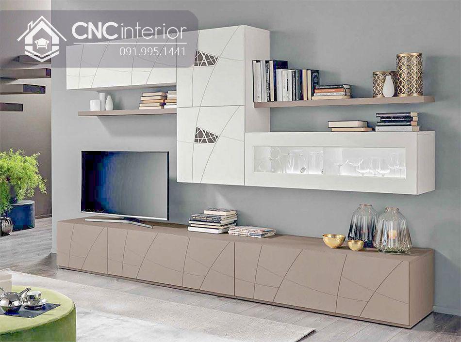 Kệ tivi gỗ công nghiệp đẹp sang trọng CNC 49