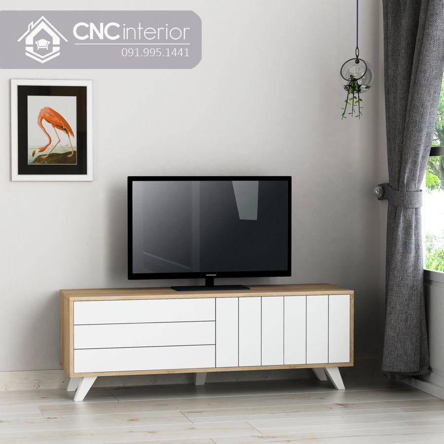 Kệ tivi 1m6 đơn giản bằng gỗ MDF CNC 53