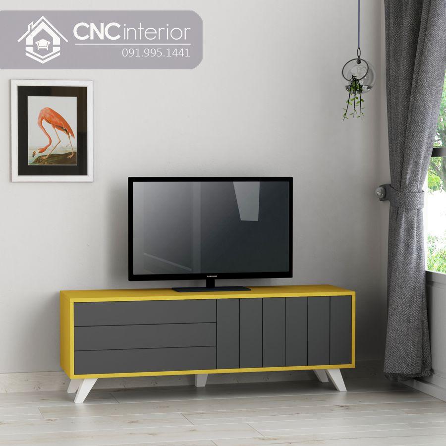Kệ tivi 1m6 đơn giản bằng gỗ MDF CNC 53 3