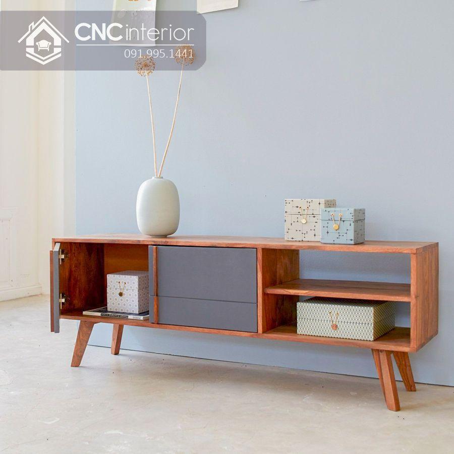 Kệ tivi gỗ công nghiệp cao cấp bền chắc CNC 58