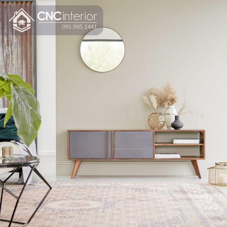 Kệ tivi gỗ công nghiệp cao cấp bền chắc CNC 58 2