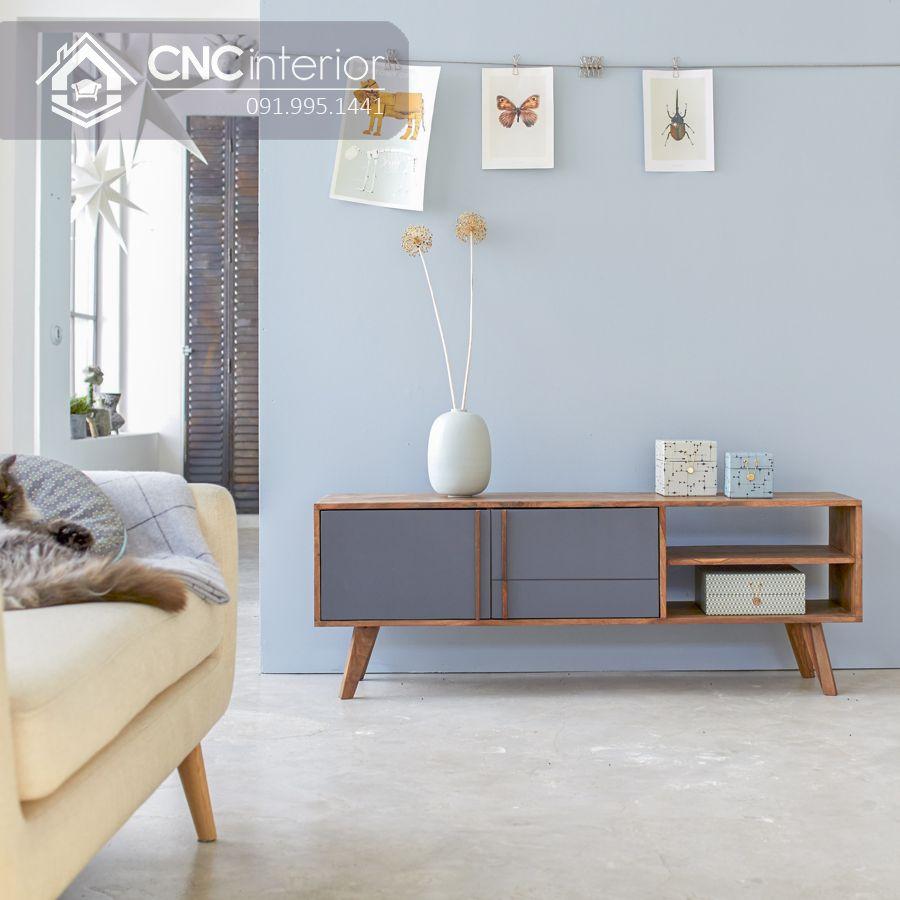 Kệ tivi gỗ công nghiệp cao cấp bền chắc CNC 58 3