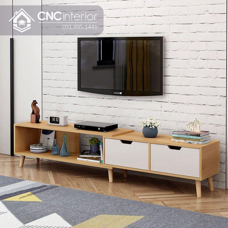 Kệ tivi gỗ hiện đại cho phòng khách CNC 59