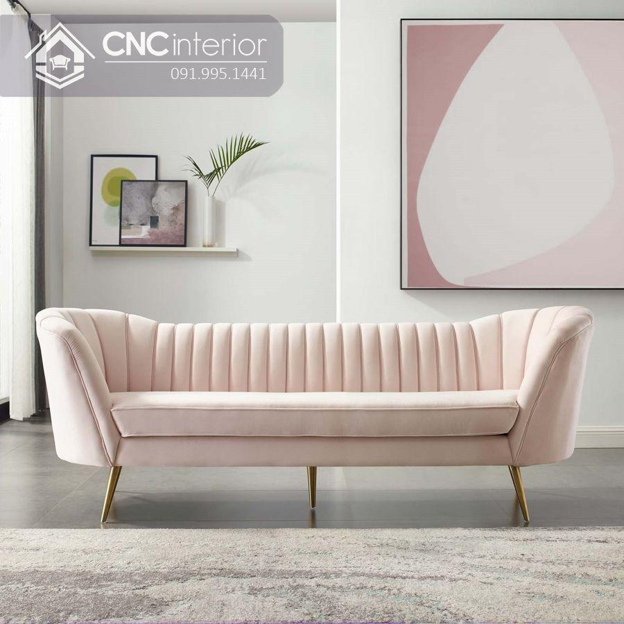 Sofa chữ I nhỏ phong cách đương đại CNC 01 2