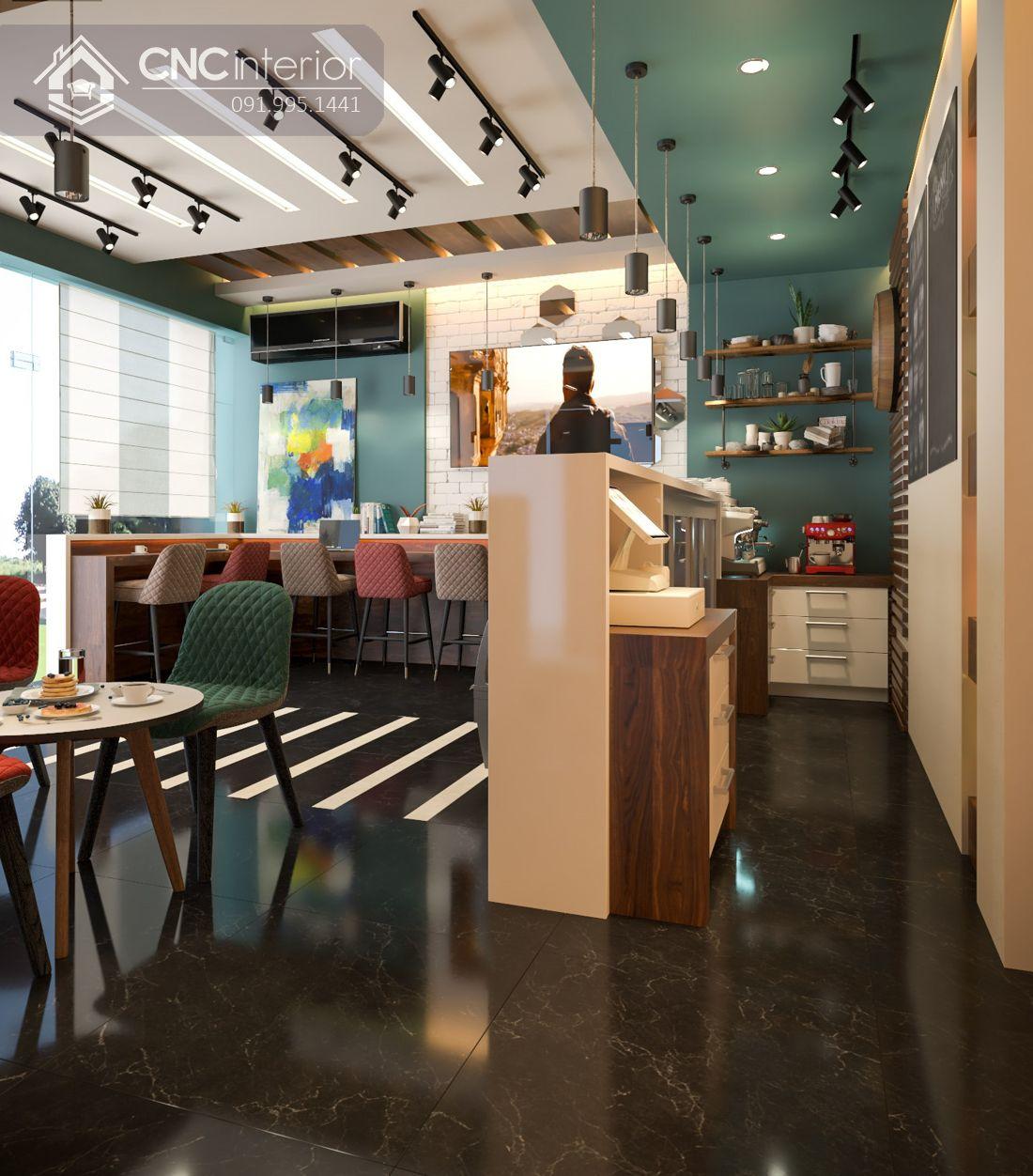 quán cafe Aribapma phong cách Color Block