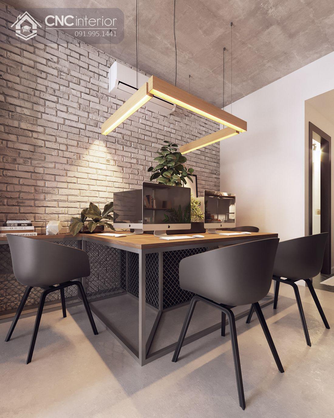 Thiết kế Officetel đẹp có bàn làm việc module cho nhân viên 4